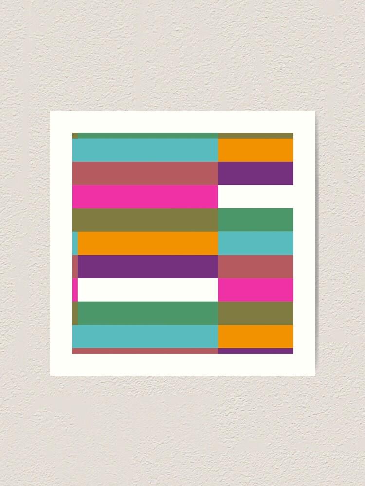 Alternate view of Colour Hue Block Stripes  Art Print