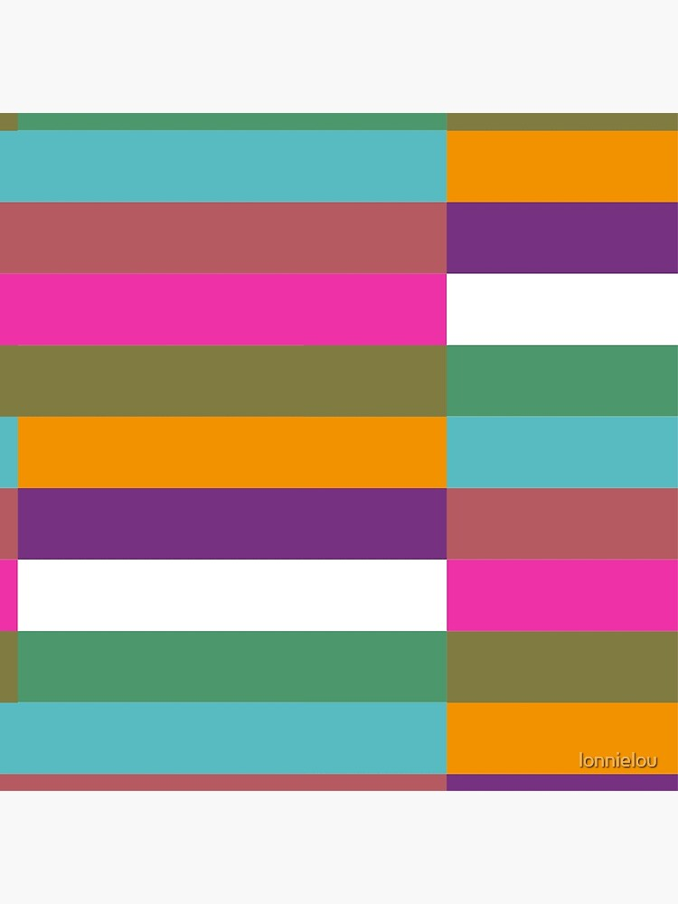 Colour Hue Block Stripes  by lonnielou