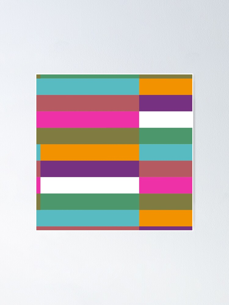 Alternate view of Colour Hue Block Stripes  Poster