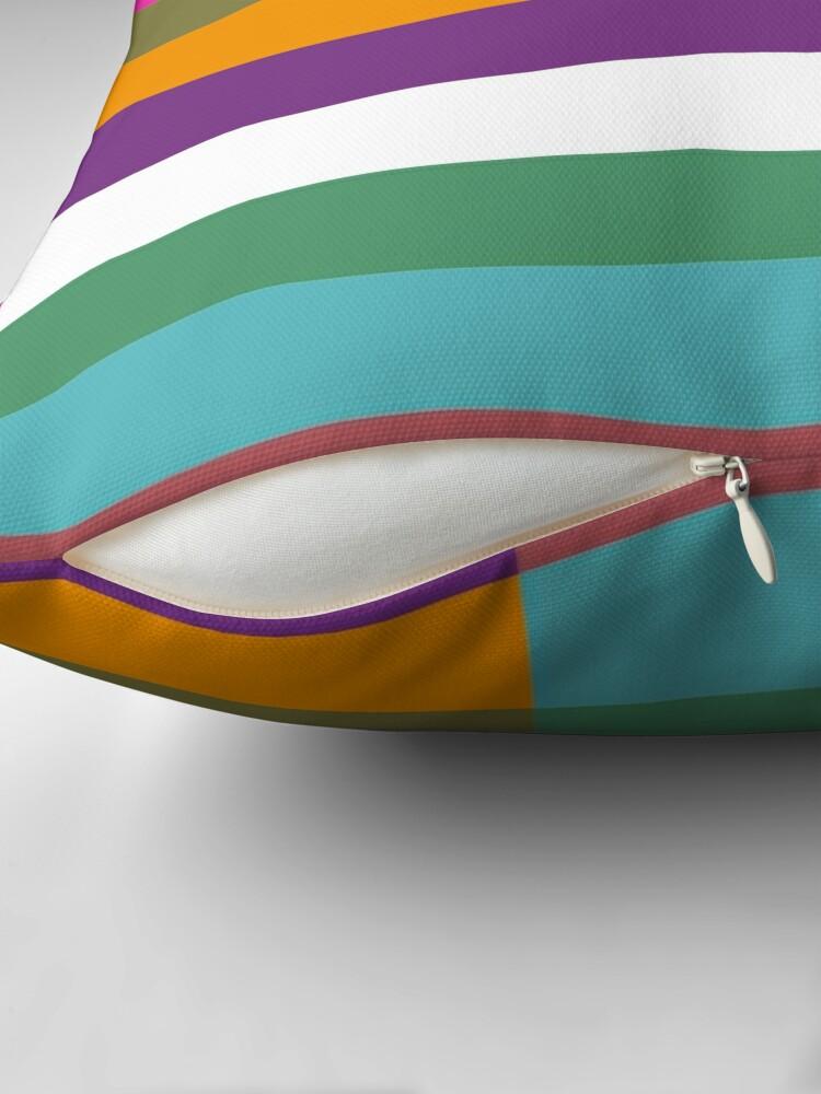 Alternate view of Colour Hue Block Stripes  Throw Pillow
