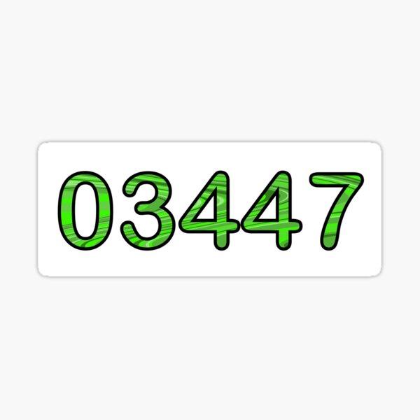 Green 03447  Sticker
