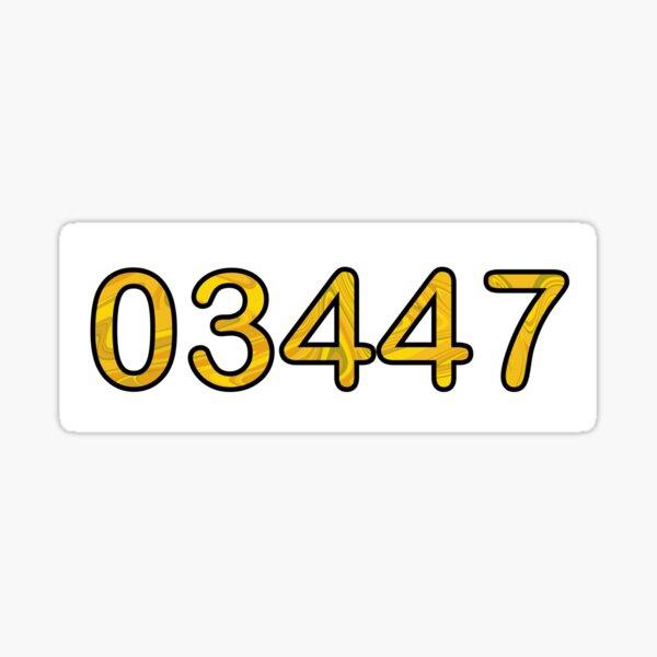 Gold 03447 Sticker