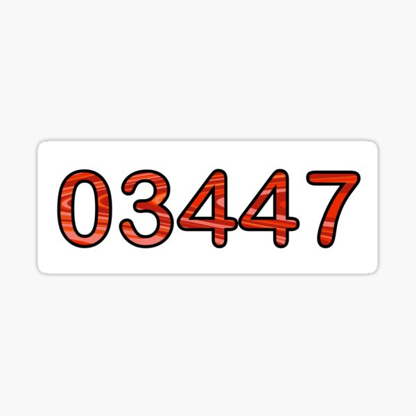 Red 03447 (FDL) Sticker