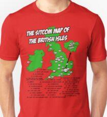 The Sitcom Map of the British Isles T-Shirt