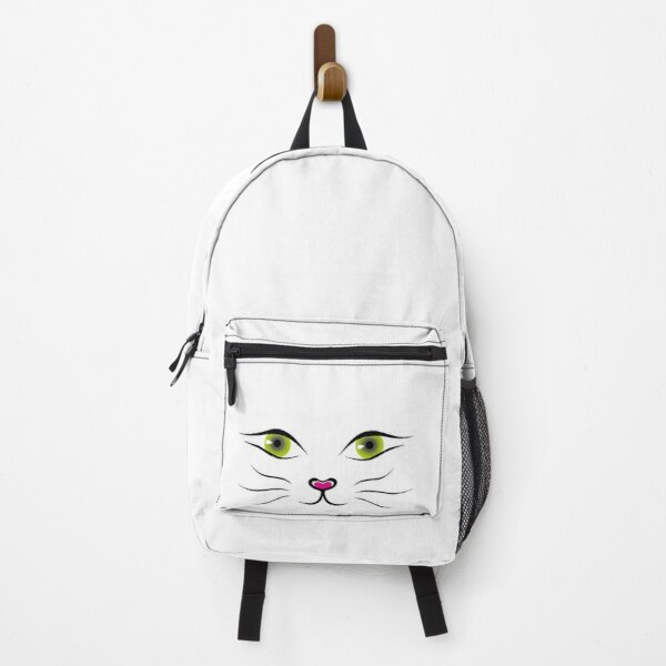 Big Funny Cat Mouth Mask T-Shirt Backpack