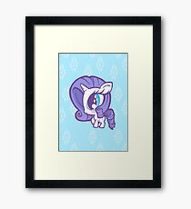 Weeny My Little Pony- Rarity Framed Print