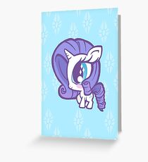 Weeny My Little Pony- Rarity Greeting Card