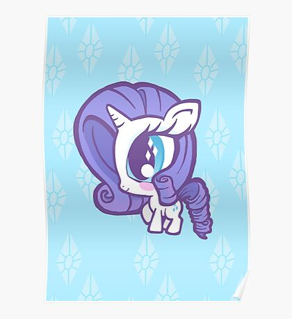 Weeny My Little Pony- Rarity Poster