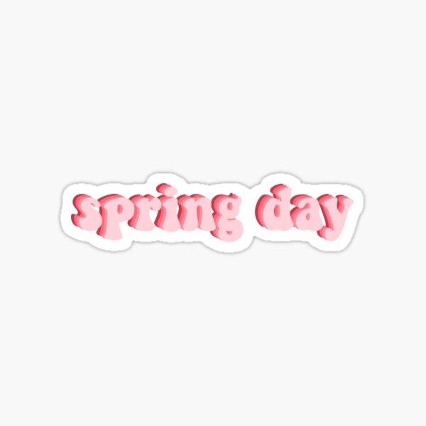 ¡Día de primavera retro de BTS! Rosado Pegatina