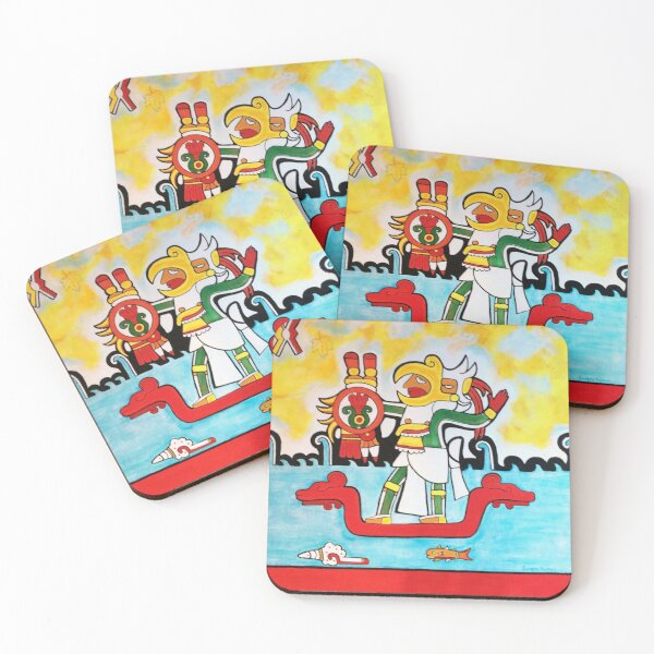 Warrior of the Waves Coasters (Set of 4)