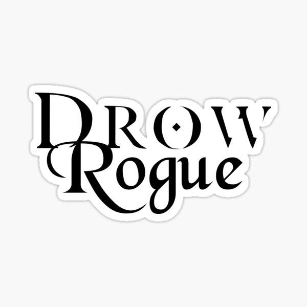 Drow Rogue Sticker
