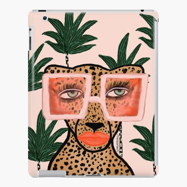 Tropical Glam Cat iPad Snap Case