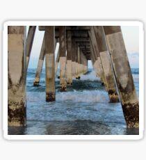 Waves Under The Pier Sticker