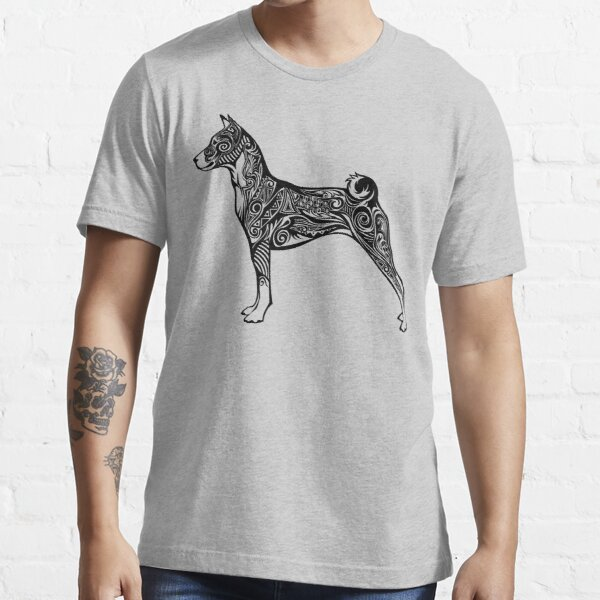 Tribal Style Basenji Essential T-Shirt