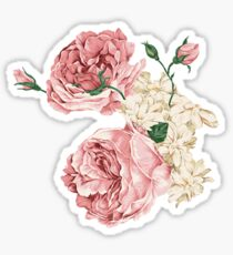 Rambling Rose Flowers Sticker
