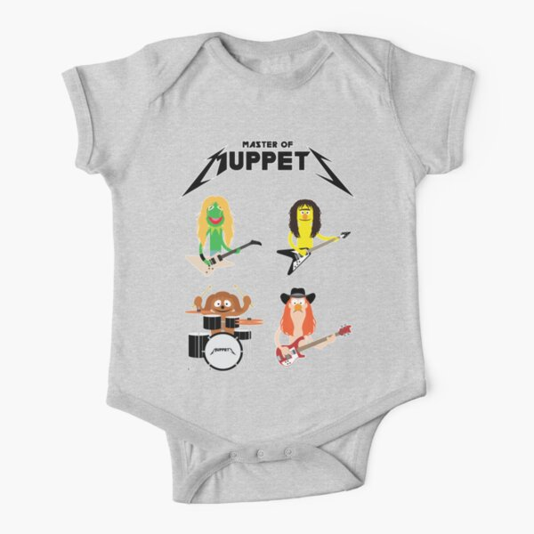 Master of Muppets - Muppets as Metallica Band Short Sleeve Baby One-Piece