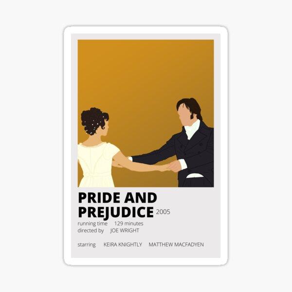 pride and prejudice minimalist sticker Sticker