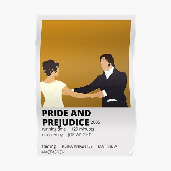 orgullo y prejuicio cartel minimalista Póster