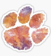 Clemson University Watercolor Design2 Sticker