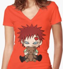 Chibi Love Boy Women's Fitted V-Neck T-Shirt
