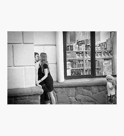 The Kiss - Ternopil, Ukraine Photographic Print