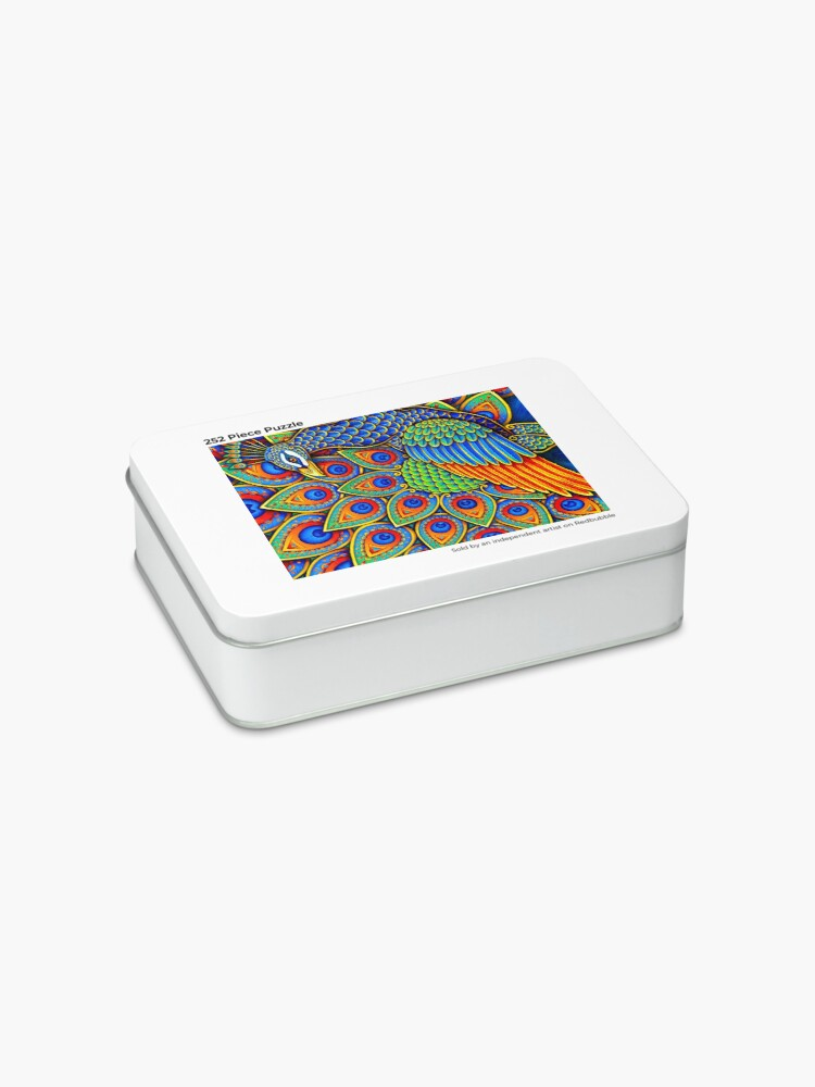 Alternate view of Colorful Paisley Peacock Rainbow Bird Jigsaw Puzzle