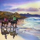 Beach Ride Byron Bay by Shirlroma