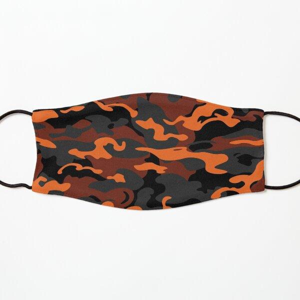 Camo Style - Dark Orange Camouflage Kids Mask