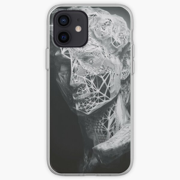 MICHELANGELO STATUE OF DAVID IN BLACK AND WHITE LINES iPhone Soft Case