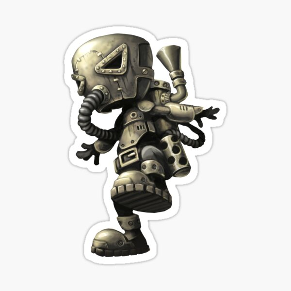 Steampunk Steambot Sticker