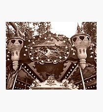 Detail of the Jules Verne Carrousel Photographic Print