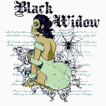 Black widow by tshirt-factory