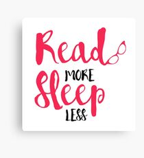 Read/Sleep 2 Canvas Print