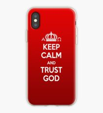 Religious Christian iPhone 6s Case Cover Keep Calm And Trust God Red iPhone Case