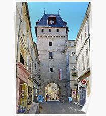 Historic centre of  Saint Jean d'Angely, France,Charente Maritime Poster