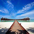 Idyllic Symmetry. Water Villas. Maldives by JennyRainbow