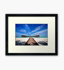 Idyllic Symmetry. Water Villas. Maldives Framed Print