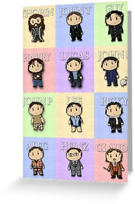 Team Everyone Richard Armitage Characters  - Without Text by sebabybaby