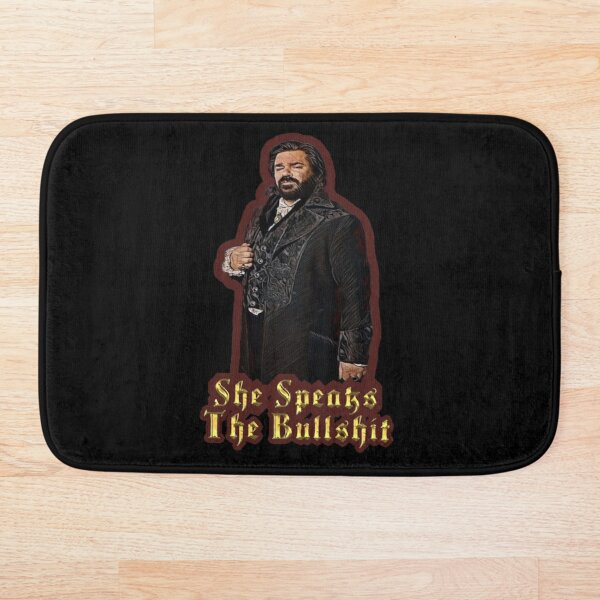 She Speaks the Bullshit Bath Mat