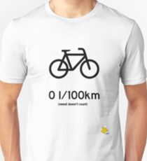 Bike : Zero liters per 100 km Unisex T-Shirt
