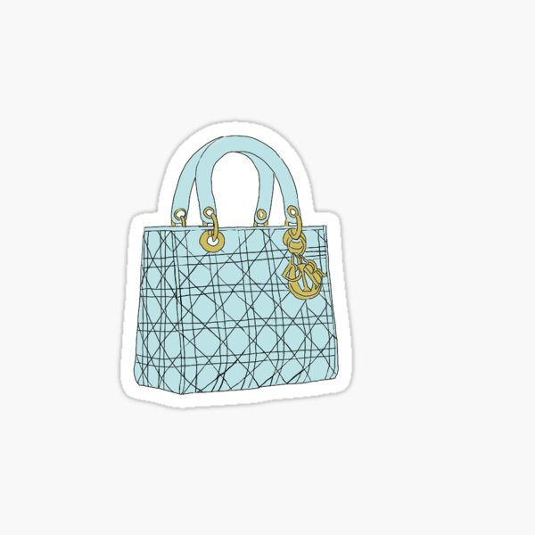 light blue lady dior handbag Sticker