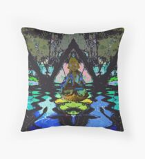 Tara in pyramid over water. Throw Pillow