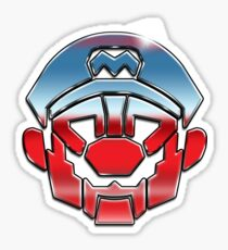 Mariobots... ROLL OUT! (metal version) Sticker