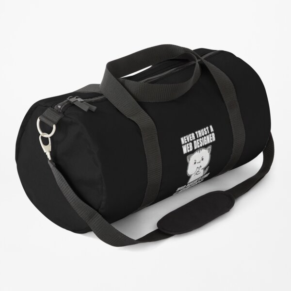 Web Designer Never Trust Someone Who Doesn't Like Cats Duffle Bag