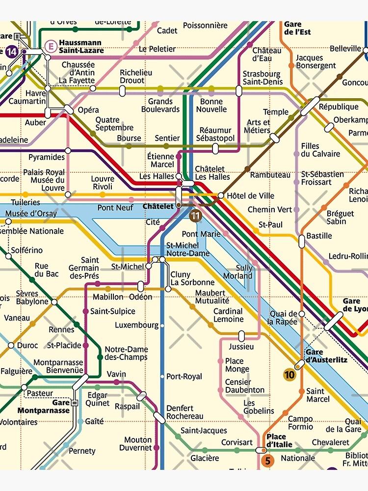 Paris METRO Map by robotface