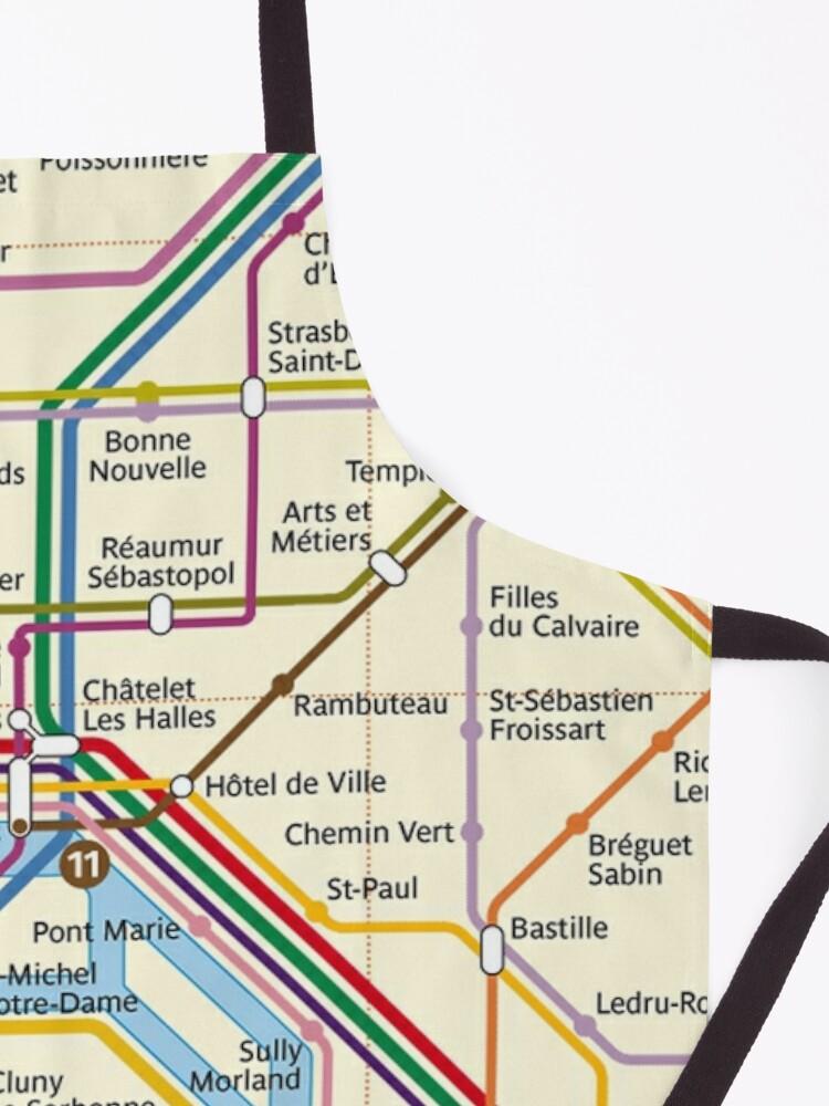 Alternate view of Paris METRO Map Apron