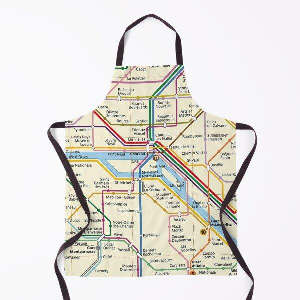 Paris METRO Map Apron