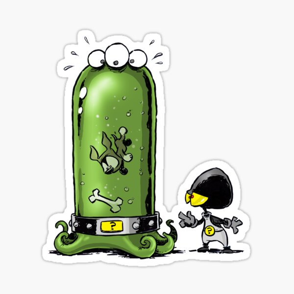 Aliens vs Puppies: Lunchies Sticker