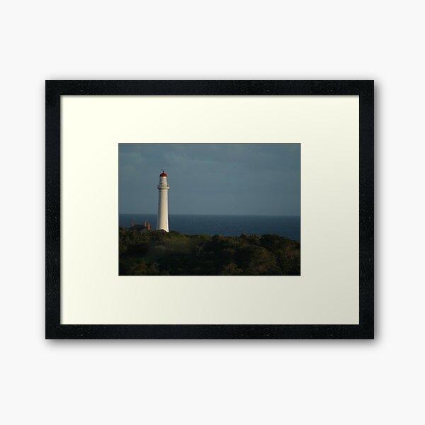 Split Point Lighthouse Framed Art Print