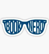 BOOKNERD GLASSES (BLUE) Sticker